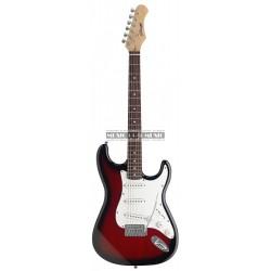 Stagg S300-RDS - Guitare électrique redburst forme stratocaster