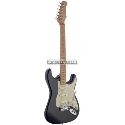 Stagg SES50M-BK - Guitare électrique avec corps en aulne massif