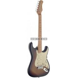Stagg SES50M-SB - Guitare électrique avec corps en aulne massif