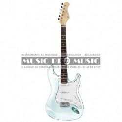 Suzuki SST1WH - Guitare électrique blanche forme stratocaster