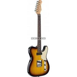 """Stagg SET-CST-BS - Guitare électrique Vintage série """"T"""" - custom"""