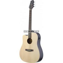 Stagg SA30DCE-N-LH - Guitare électro-acoustique naturel gaucher