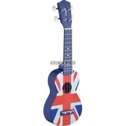 Stagg US-UK-FLAG - Ukulélé soprano drapeau UK + housse