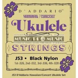 D'Addario J53 - Jeu de cordes pour ukulélé soprano