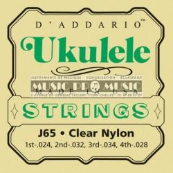 D'Addario J65 - Jeu de cordes pour ukulélé soprano