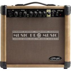 Stagg 20-AA-R-EU - Ampli combo pour guitare acoustique 20w