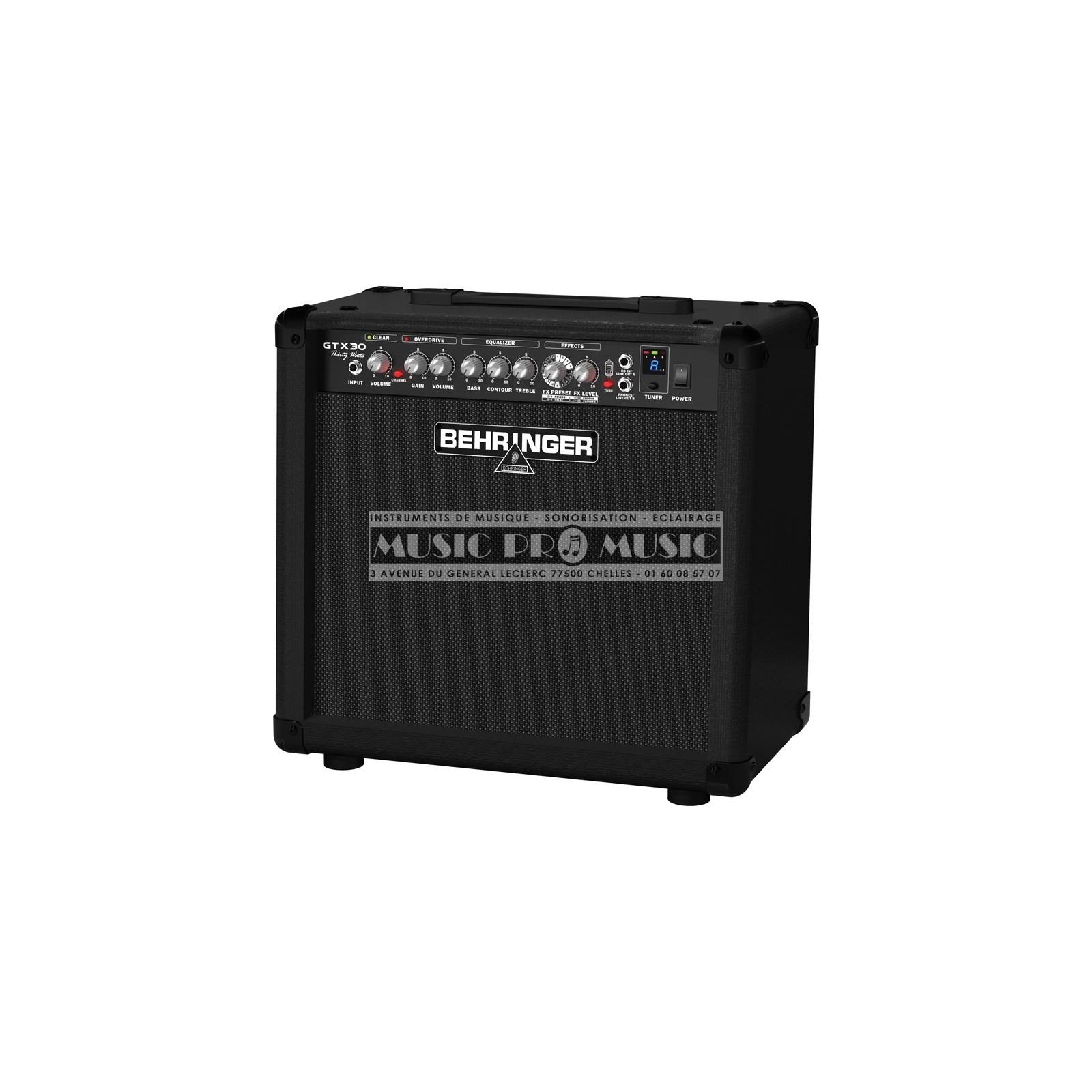 Behringer GTX30 - Ampli combo pour guitare electrique à ...