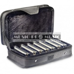 Stagg BJH-B20-SET - Ensemble d'harmonicas blues avec étui