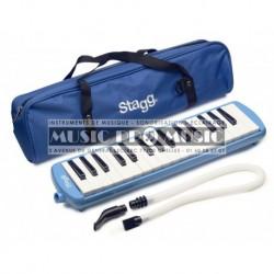 Stagg MELOSTA32-BL - Mélodica bleu en plastique 32 touches housse bleue