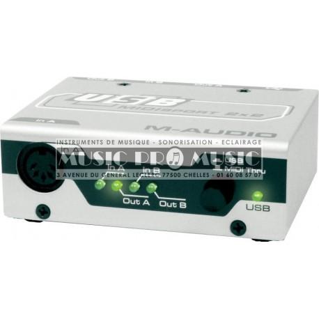 M-Audio MIDISPORT2X2 - Interface MIDI USB 2x2