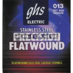 GHS 11 - Jeu de cordes filet plat 11-46 pour guitare électrique