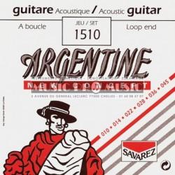 Argentine 1510 - Jeu de cordes 10-45 pour guitare folk et manouche à boucle
