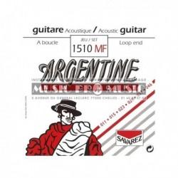 Argentine 1510MF - Jeu de cordes 11-46 pour guitare folk et manouche à boucle