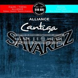 Savarez 510ARJ - Jeu de cordes Cantiga Tension Mixte pour guitare classique