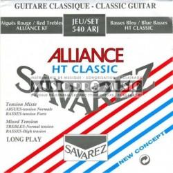 Savarez 540ARJ - Jeu de cordes Alliance Tension Mixte pour guitare classique