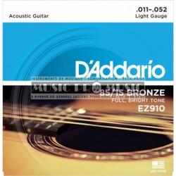 D'Addario EZ910 - Jeu de cordes Bronze 11-52 pour guitare acoustique