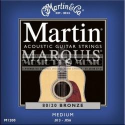 Martin & Co M1200 - Jeu de cordes Marquis Bronze 13-56 pour guitare acoustique