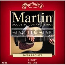 Martin & Co M140 - Jeu de cordes Bronze 12-54 pour guitare acoustique