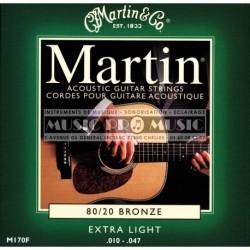 Martin M170 - Jeu de cordes Bronze 10-47 pour guitare acoustique