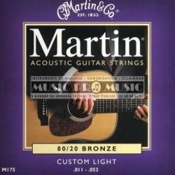 Martin M175CL - Jeu de cordes Bronze 11-52 pour guitare acoustique