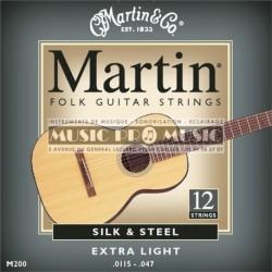 Martin & Co M200 - Jeu de 12 cordes Silk 11,5-47 pour guitare acoustique