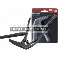 "Stagg SCPX-FL-BK - Capodastre plat type ""trigger"" (gachette) pour guitare classique"