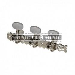 Fire & Stone 545211 - Mécaniques Chrome avec Lyre pour guitare classique
