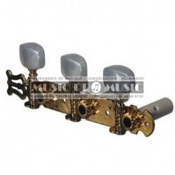 Fire & Stone 545326 - Mécaniques avec lyre doré pour guitare classique