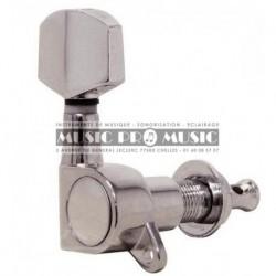 Fire & Stone 545816 - Mécaniques Chrome 3+3 pour guitare acoustique et électrique