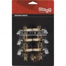 Stagg KG360 - Mécaniques dorées avec lyre pour guitare classique