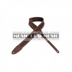 Levy's M12LP-BRN - Courroie tissu cuir brun