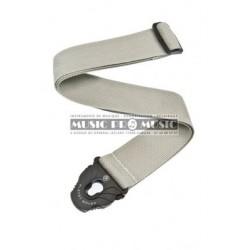 D'Addario PWSPL205 - Courroie lock silver