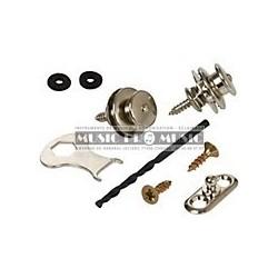 Loxx LOX127-50 - Straps locks noirs pour guitare acoustique
