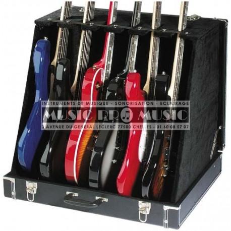 Stagg GDC-6 - Coffre-présentoir universel pour 3 guitares acoustiques ou 6 électriques