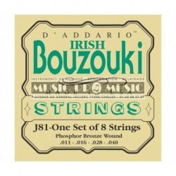 D'Addario J81 - Jeu de cordes pour Bouzouki Irish