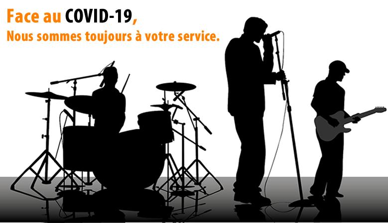 Face au COVID-19, nous sommes toujours à votre service