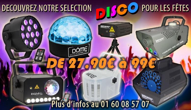 Découvrez chez Music Pro Music notre sélection éclairage effets disco de 27,90€ à 99€